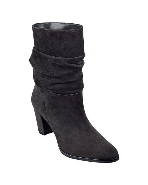 Ivanka Trump | Black Jalli Suede Ankle Boots | Lyst