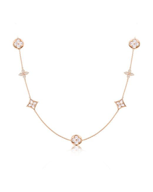 Louis Vuitton | Color Blossom Sautoir, Pink Gold, White Mother-of-pearl And Diamonds | Lyst