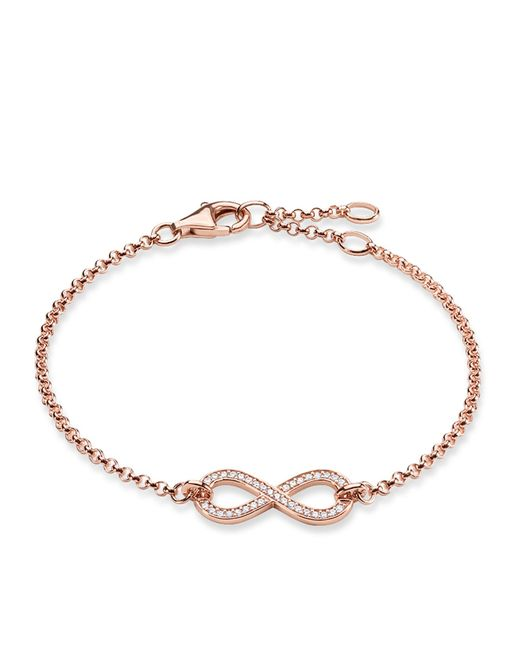 Thomas Sabo   Metallic Pave Crystal Infinity Bracelet In 18k Rose Gold-plated Sterling Silver   Lyst