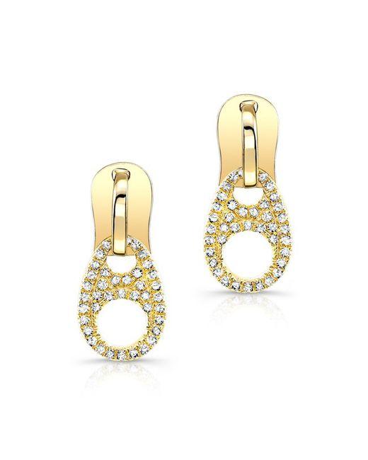 Anne Sisteron - Metallic 14kt Yellow Gold Diamond Zipper Earrings - Lyst
