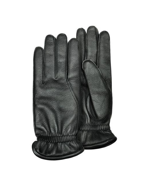 Pineider | Men's Black Deerskin Leather Gloves W/ Cashmere Lining for Men | Lyst