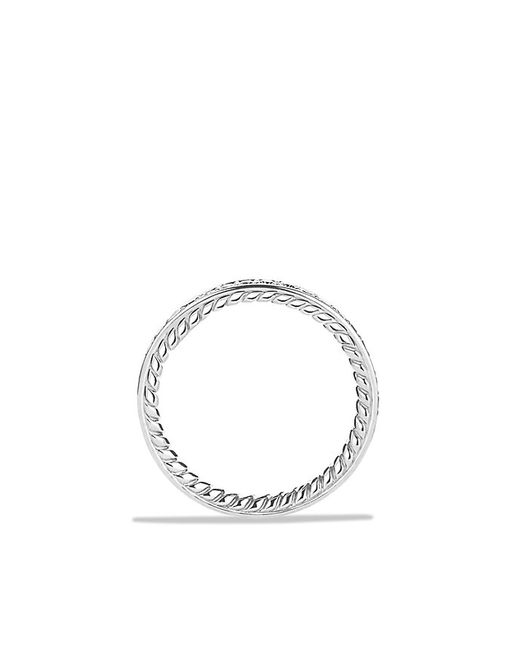 David Yurman | Metallic Dy Eden Eternity Wedding Band With Diamonds In Platinum, 3mm | Lyst