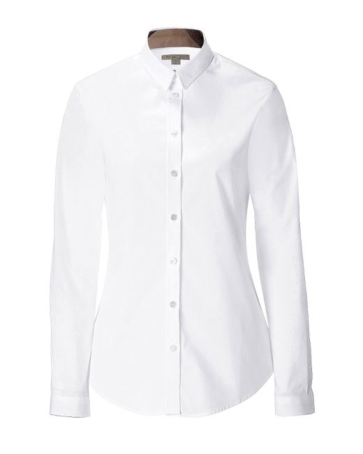 Burberry Brit   Stretch Cotton Shirt in White   Lyst