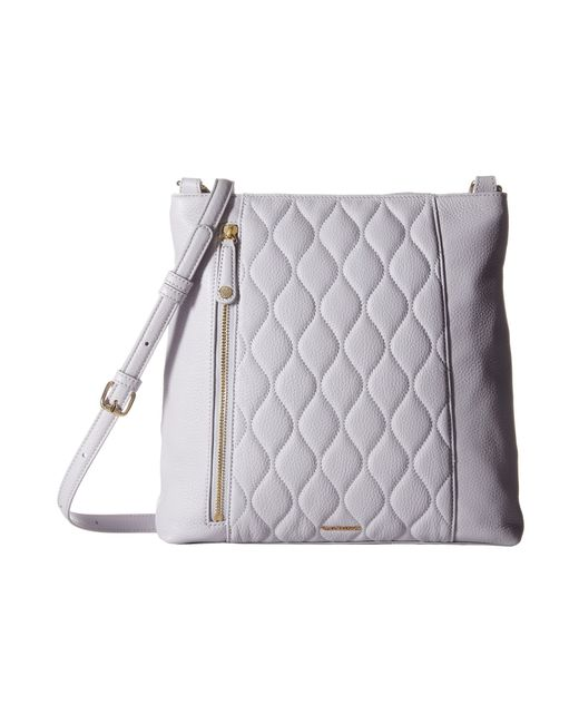 Vera Bradley Quilted Molly Crossbody In Gray Cloud Gray