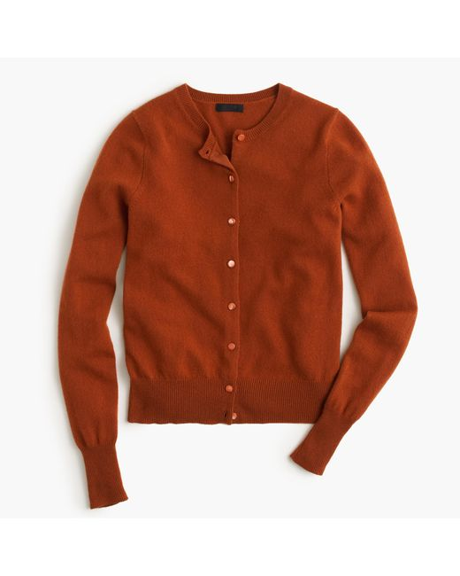 J.Crew   Brown Italian Cashmere Cardigan Sweater   Lyst