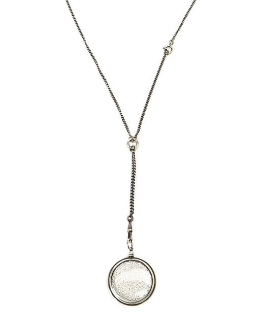 Ann Demeulemeester Blanche | Metallic Pearl Filled Pendant Necklace | Lyst
