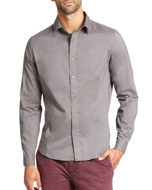 Madison Supply | Gray Core Cotton Sportshirt for Men | Lyst