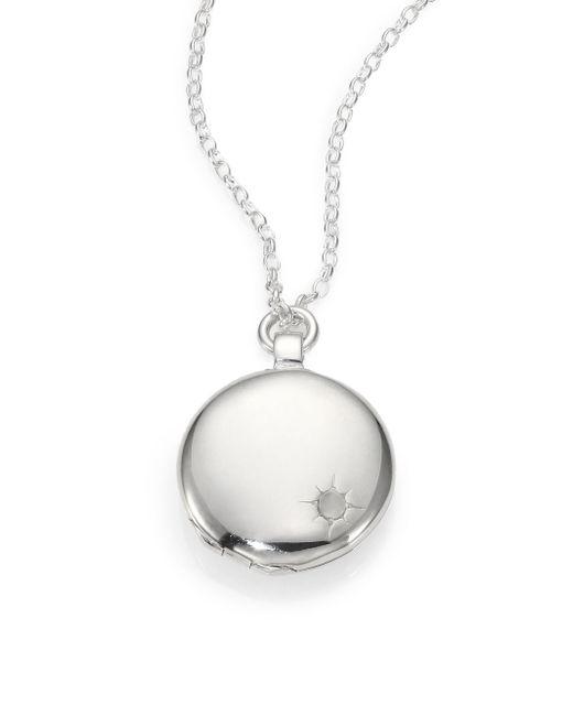 Astley Clarke | Metallic Sterling Silver Astley Locket Necklace | Lyst