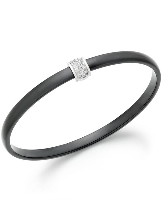 Macy's | Metallic Diamond And Ceramic Bangle Bracelet (1/3 Ct. T.w.) In Sterling Silver | Lyst