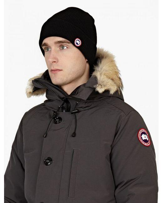 Canada Goose   Black Merino Wool Knit Cap for Men   Lyst