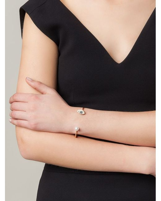 Delfina Delettrez | Metallic 'eyes On Me Piercing' Bracelet | Lyst