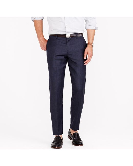 J.Crew | Blue Ludlow Suit Pant In Italian Worsted Wool for Men | Lyst