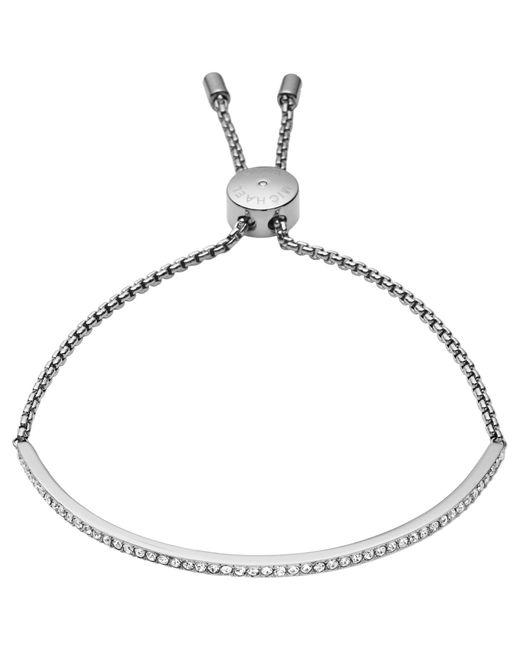 Michael Kors | Metallic Pave Bar Slider Bracelet | Lyst