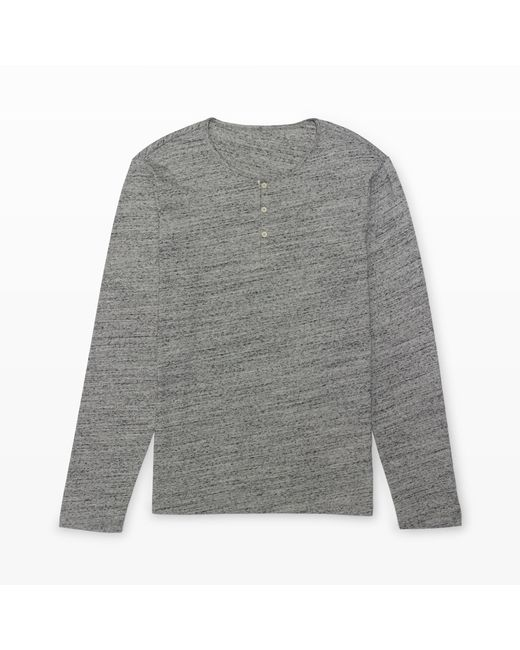 Club Monaco | Gray Long-sleeve Space-dye Henley for Men | Lyst