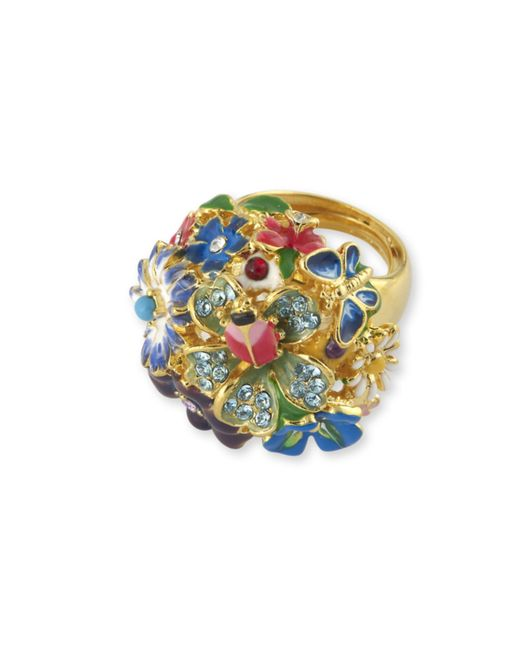 Kenneth Jay Lane | Multicolor Multi-color Flower Ring | Lyst