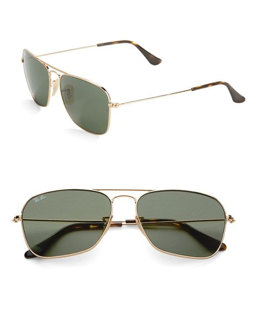 Ray-ban Rectangular Sunglasses in Gold for Men Lyst