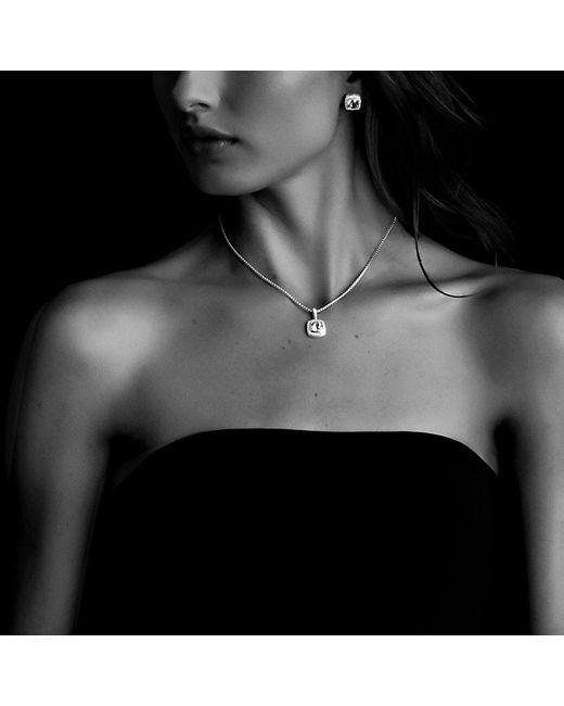 David Yurman | Petite Albion Pendant Necklace With Blue Topaz And Diamonds | Lyst
