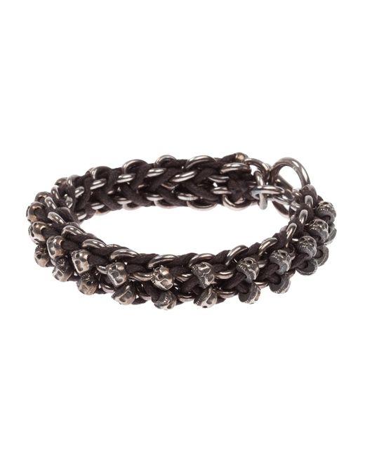 Tobias Wistisen | Black Skull Bar Bracelet for Men | Lyst