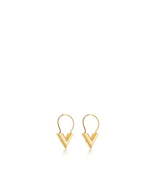 Louis Vuitton | Metallic Essential V Hoops | Lyst
