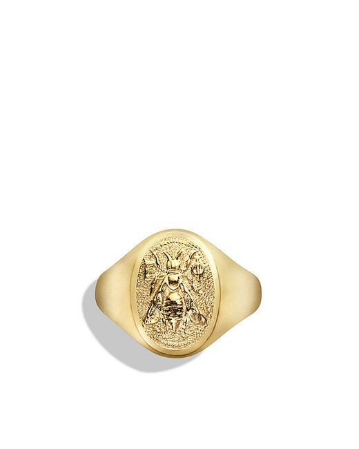 David Yurman | Metallic Petrvs Bee Signet Ring In 18k Gold for Men | Lyst