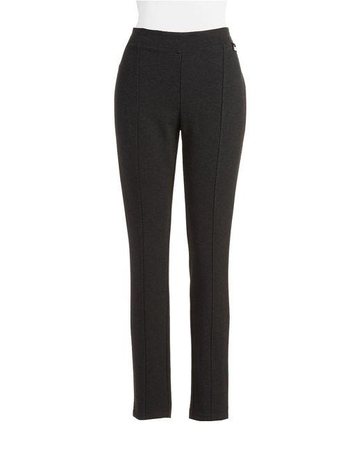 Calvin Klein | Black Front Seam Knit Pants | Lyst