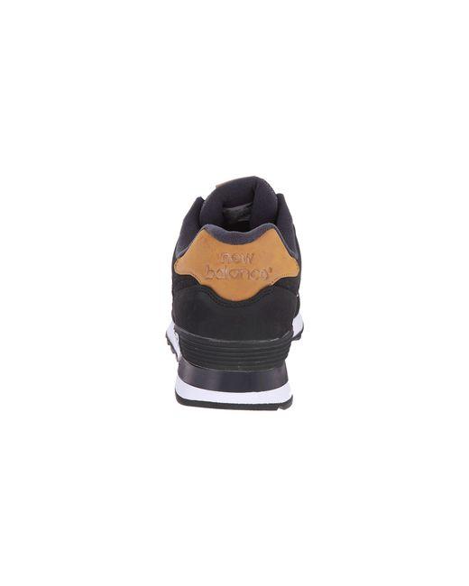 New Balance | Black 574 - Lux for Men | Lyst