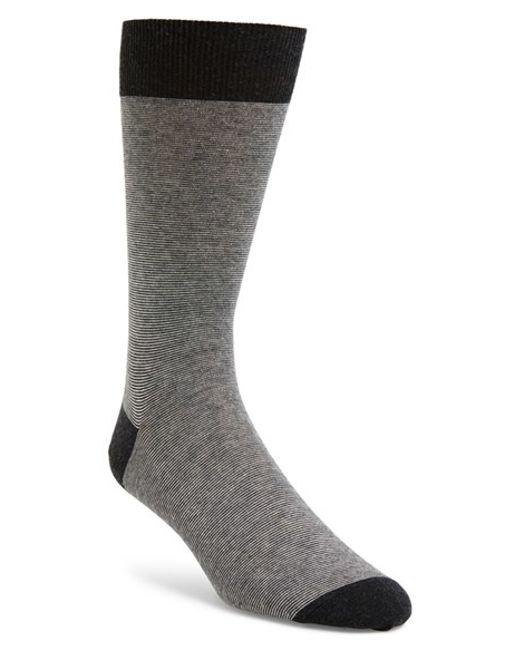 John W. Nordstrom | Gray John W. Nordstrom Feeder Stripe Socks for Men | Lyst
