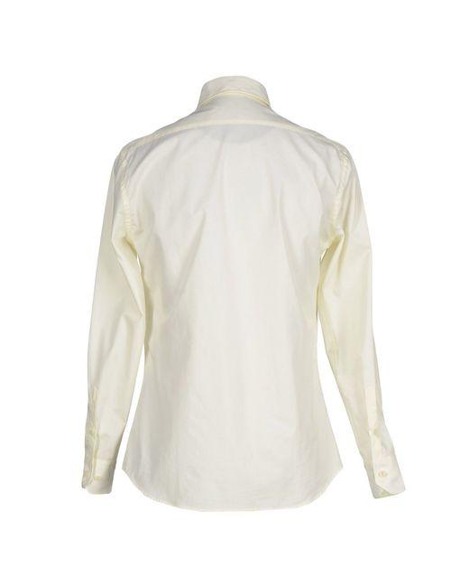 Class Roberto Cavalli | Natural Shirt for Men | Lyst