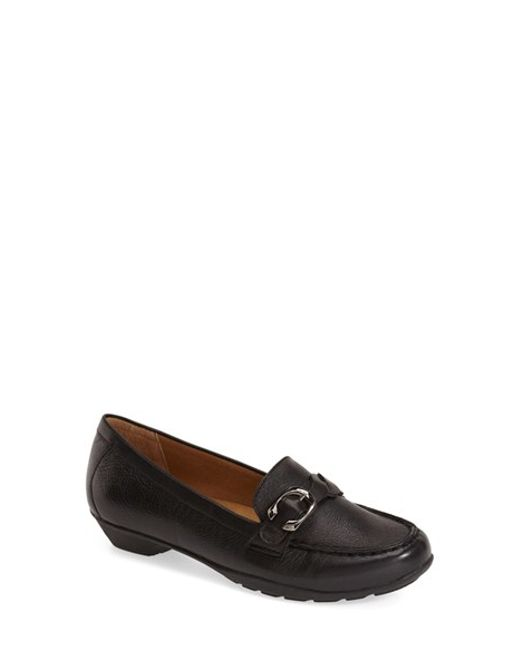 Softspots | Black 'Peron' Buckle Loafer | Lyst