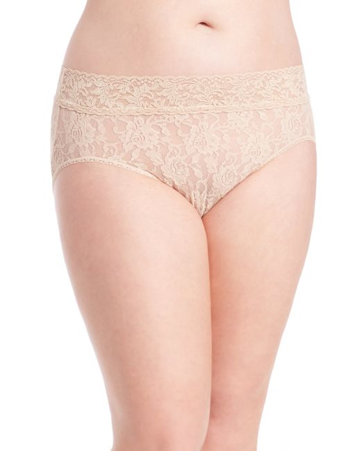 Hanky Panky | Natural Plus Size French Lace Bikini | Lyst