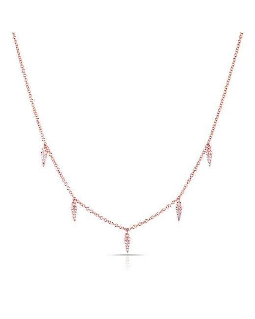 Anne Sisteron - Metallic 14kt Rose Gold Diamond Sistine Spike Necklace - Lyst