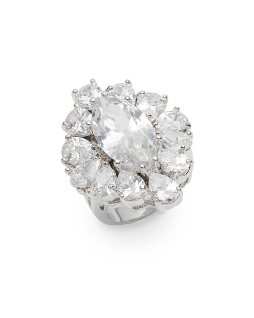 CZ by Kenneth Jay Lane | Metallic Marquis White Stone Ring | Lyst
