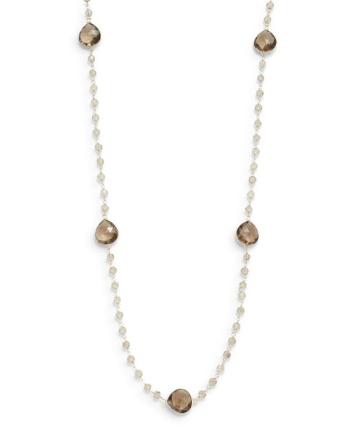 Effy | Metallic Sterling Silver Sapphire Necklace | Lyst
