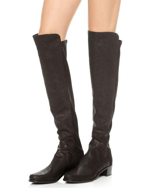 Stuart Weitzman Reserve Boots In Black Save 73 Lyst