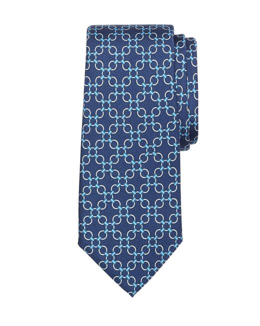 Brooks Brothers | Blue Connect Link Circle Print Tie for Men | Lyst