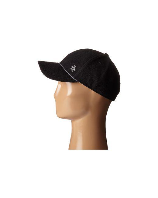 c7f09f3376a Original penguin Terry Cloth Baseball Cap in Black for Men .