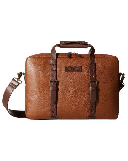 Johnston & Murphy   Brown Zip Top Briefcase for Men   Lyst