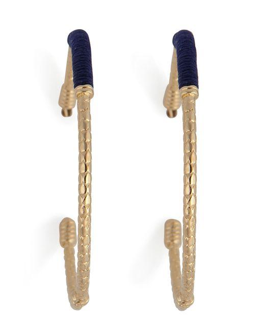 Aurelie Bidermann | Metallic Aurélie Bidermann Soho Hoop Earrings - Blue | Lyst