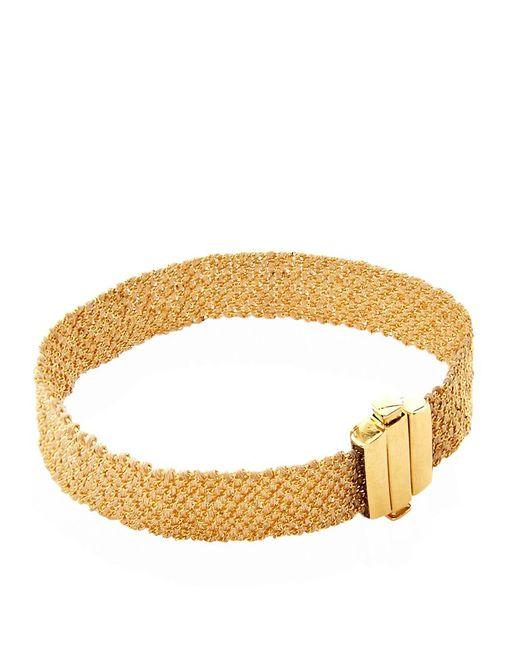 Carolina Bucci   Metallic Gold And Silk Woven Bracelet   Lyst