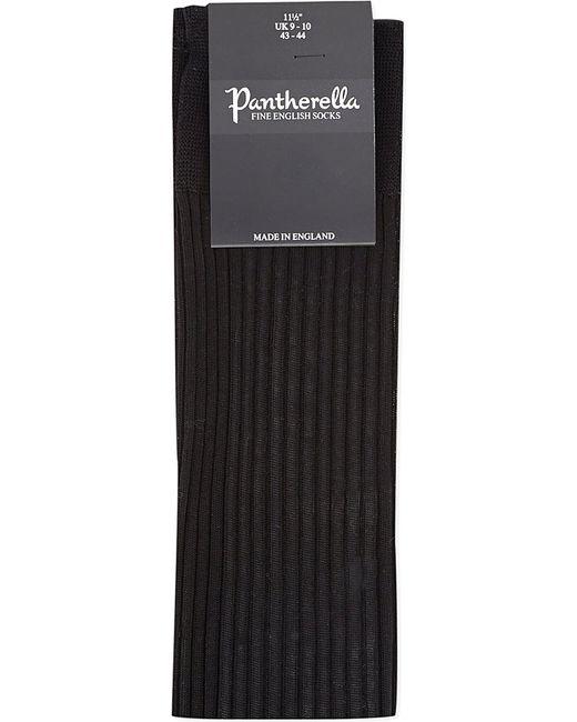 Pantherella | Black Cotton Ribbed Knee-high Socks for Men | Lyst