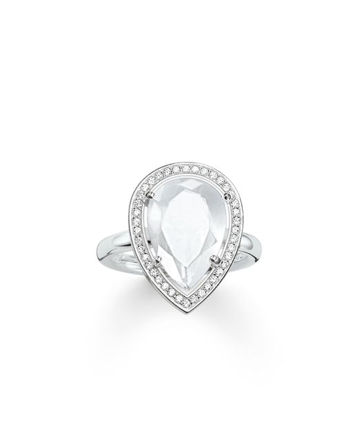 Thomas Sabo | Metallic Maharani Milky Quartz Drop Ring | Lyst