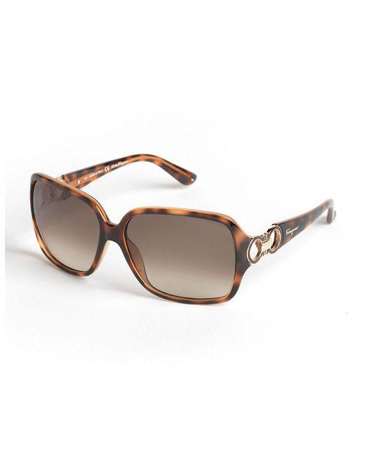 Ferragamo | Brown Oversized Square Sunglasses | Lyst