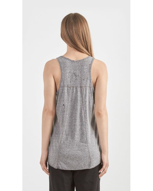 Distressed Tank Tops in White by Alo Yoga from Carbon