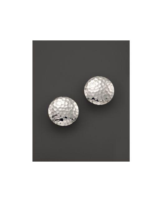John Hardy | Metallic Palu Sterling Silver Button Earrings | Lyst