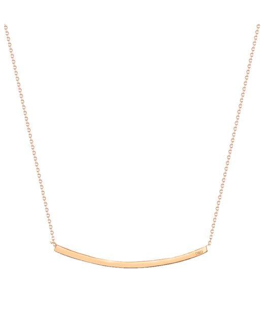 Dana Rebecca   Metallic Rose Gold Sylvie Rose Long Necklace   Lyst
