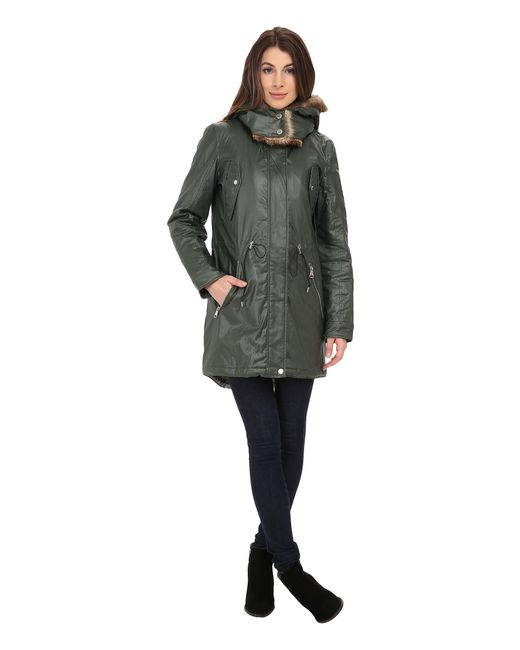 "Marc New York | Green Lauren 35"" Utility Rain Anorak 