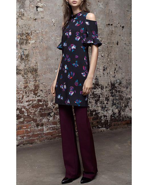 Rebecca Taylor   Blue Mixed-floral A-line Dress   Lyst
