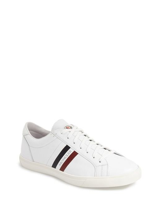 Moncler 'monaco' Sneaker in White for Men (WHITE LEATHER ...