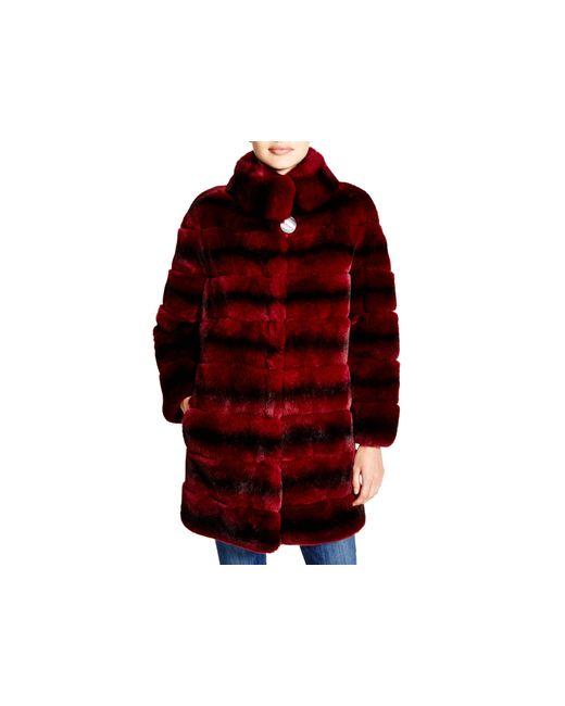 Maximilian | Purple Maximilian Rabbit Fur Coat - Bloomingdale's Exclusive | Lyst