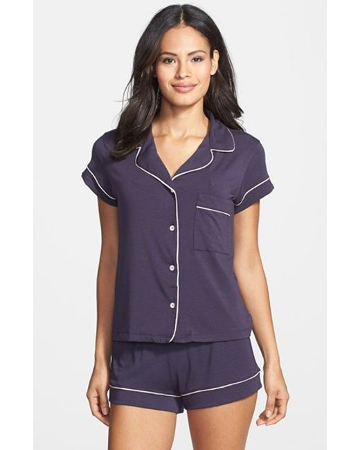 Eberjey | Purple 'gisele' Shorty Pajamas | Lyst